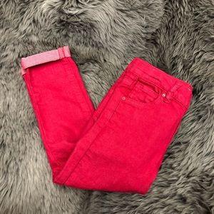 Guess Pink Denim Skinny Jeans (PM712)